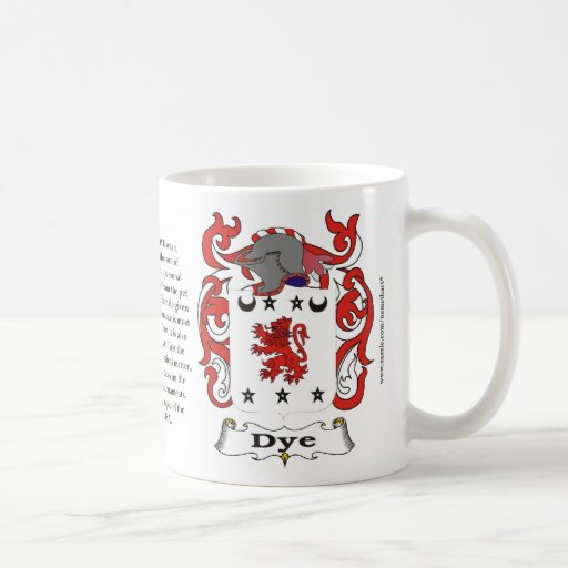 Dye, the Origin, the Meaning and the Crest on a mu Coffee Mugs