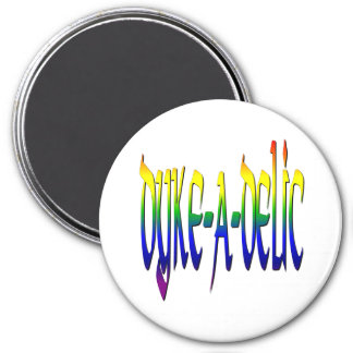 Dyke-A-Delic 7.5 Cm Round Magnet