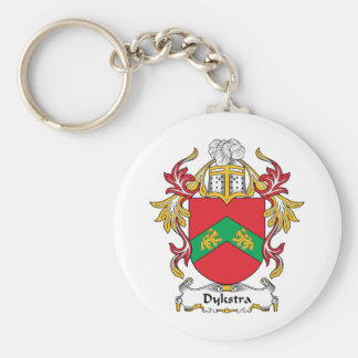 Dykstra Family Crest Basic Round Button Key Ring