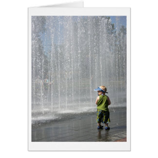 Dylan at Fountain Card
