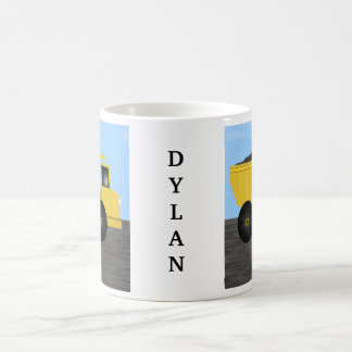 Dylan Dump Truck Personalized Name Mug