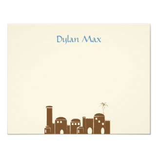 Dylan Max Jerusalem Jewish Bar Mitzvah Card