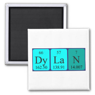 Dylan periodic table name magnet