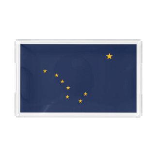 Dynamic Alaska State Flag Graphic on a Acrylic Tray