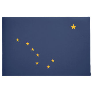 Dynamic Alaska State Flag Graphic on a Doormat