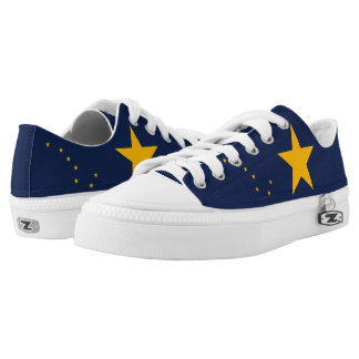Dynamic Alaska State Flag Graphic on a Low Tops