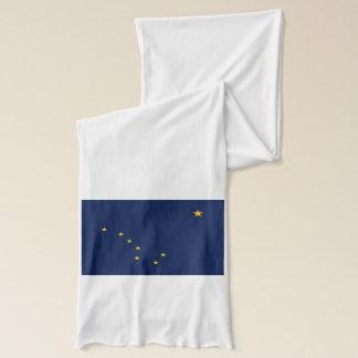 Dynamic Alaska State Flag Graphic on a Scarf