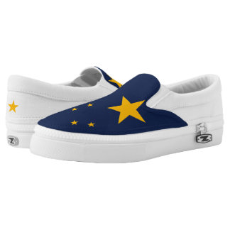 Dynamic Alaska State Flag Graphic on a Slip-On Shoes