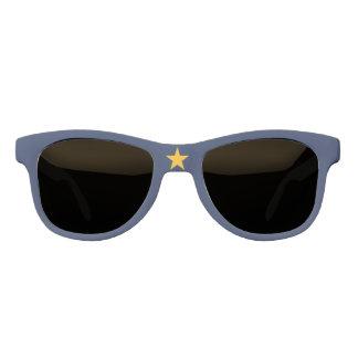 Dynamic Alaska State Flag Graphic on a Sunglasses