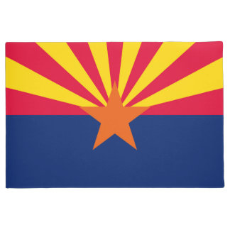 Dynamic Arizona State Flag Graphic on a Doormat