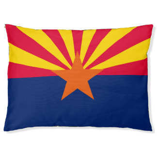 Dynamic Arizona State Flag Graphic on a Pet Bed