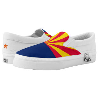 Dynamic Arizona State Flag Graphic on a Printed Shoes