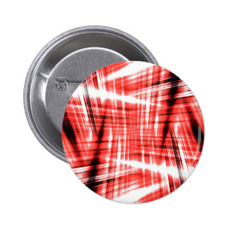 Dynamic black and red streaks 6 cm round badge