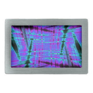 Dynamic blue streaked pattern belt buckles