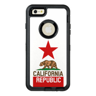 Dynamic California State Flag Graphic on a OtterBox Defender iPhone Case