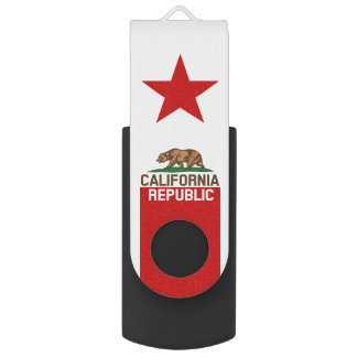 Dynamic California State Flag Graphic on a USB Flash Drive