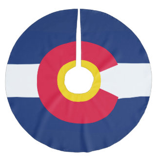 Dynamic Colorado State Flag Graphic on a Brushed Polyester Tree Skirt