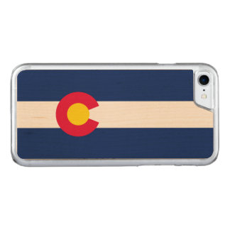 Dynamic Colorado State Flag Graphic on a Carved iPhone 8/7 Case