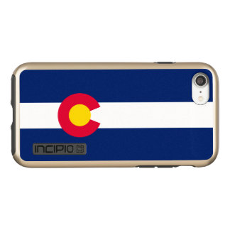 Dynamic Colorado State Flag Graphic on a Incipio DualPro Shine iPhone 8/7 Case