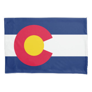 Dynamic  Colorado State Flag Graphic on a Pillowcase