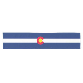 Dynamic Colorado State Flag Graphic on a Short Table Runner