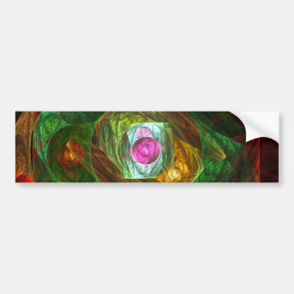 Dynamic Connections Abstract Art Bumper Sticker