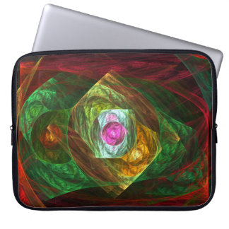 Dynamic Connections Abstract Art Laptop Sleeve