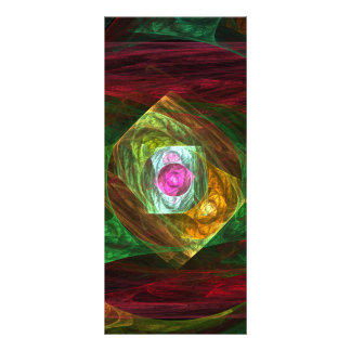 Dynamic Connections Abstract Art Rack Card