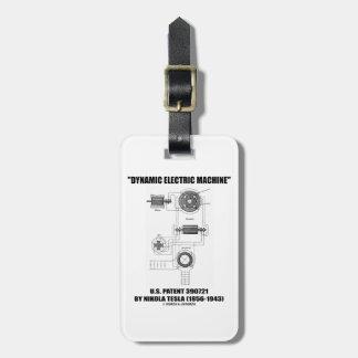 Dynamic Electric Machine U.S. Patent Nikola Tesla Luggage Tag