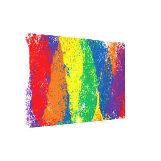 Dynamic, Fun, and Colorful Abstract Rainbow Canvas Print