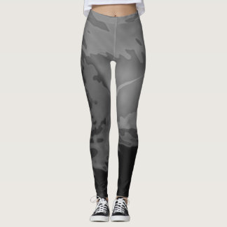 Dynamic Gray Abstract - Leggings
