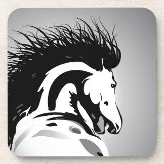 dynamic horse illustration coaster