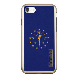 Dynamic Indiana State Flag Graphic on a Incipio DualPro Shine iPhone 8/7 Case