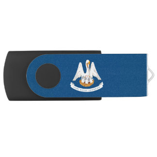 Dynamic Louisiana State Flag Graphic on a USB Flash Drive