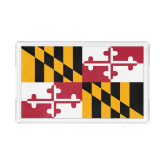 Dynamic Maryland State Flag Graphic on a Acrylic Tray