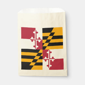 Dynamic Maryland State Flag Graphic on a Favour Bag