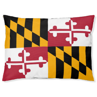 Dynamic Maryland State Flag Graphic on a Pet Bed