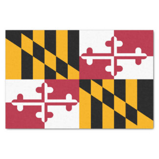 Dynamic Maryland State Flag Graphic on a Tissue Paper