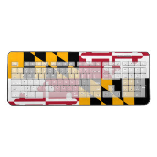 Dynamic Maryland State Flag Graphic on a Wireless Keyboard