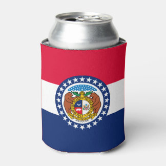 Dynamic Missouri State Flag Graphic on a Can Cooler