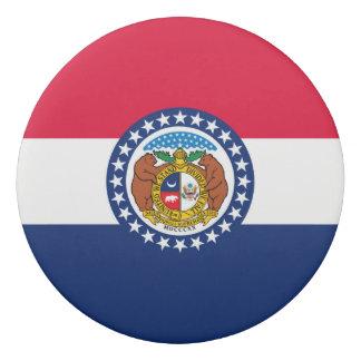Dynamic Missouri State Flag Graphic on a Eraser