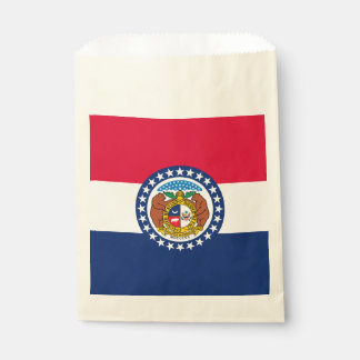 Dynamic Missouri State Flag Graphic on a Favour Bag