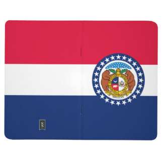 Dynamic Missouri State Flag Graphic on a Journal