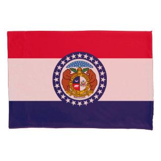 Dynamic Missouri State Flag Graphic on a Pillowcase