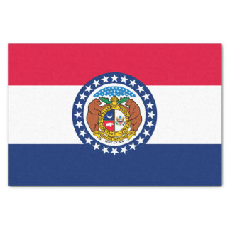 Dynamic Missouri State Flag Graphic on a Tissue Paper