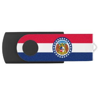 Dynamic Missouri State Flag Graphic on a USB Flash Drive