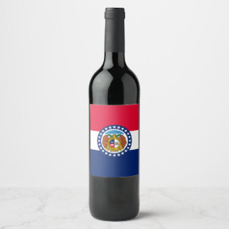 Dynamic Missouri State Flag Graphic on a Wine Label