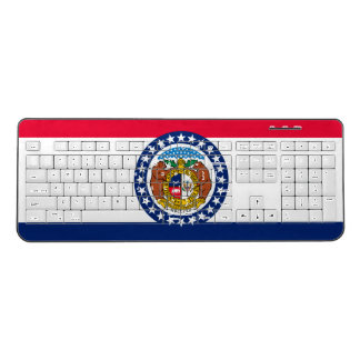 Dynamic Missouri State Flag Graphic on a Wireless Keyboard