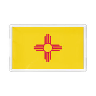 Dynamic New Mexico State Flag Graphic on a Acrylic Tray