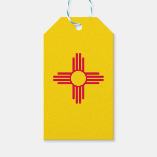 Dynamic New Mexico State Flag Graphic on a Gift Tags